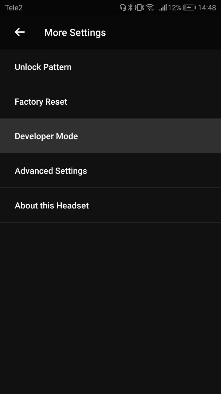 Set developer mode